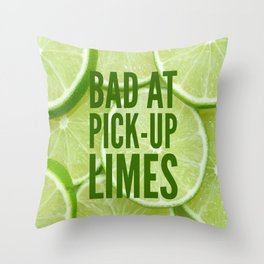 Pick Up Limes Throw Pillow