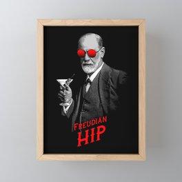Hipster Psychologist Sigmund Freud Framed Mini Art Print