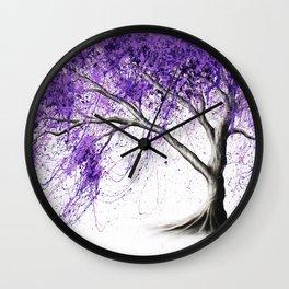 Purple Tree Wall Clock