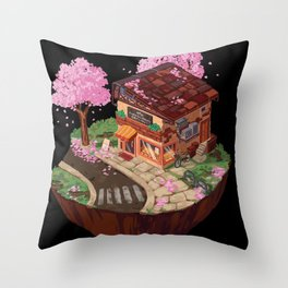 Japanese Bakery Throw Pillow