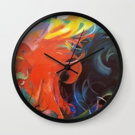 Franz Marc - Fighting forms Wall Clock