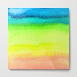 Rainbow Gradient Madness Watercolor by Imaginarium Creative Studios Metal Print