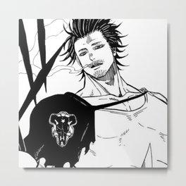 Captain Yami Simple Design Metal Print