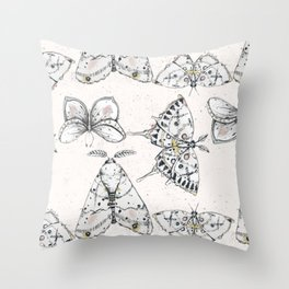 La Phalène Throw Pillow