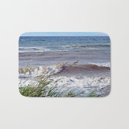 Waves Rolling up the Beach Bath Mat