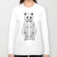 pandas Long Sleeve T-shirts featuring Pandas by Benson Koo