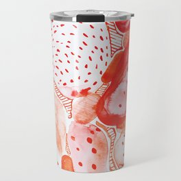 Abstract pattern of watercolor red fruit Edit.No.83 Travel Mug