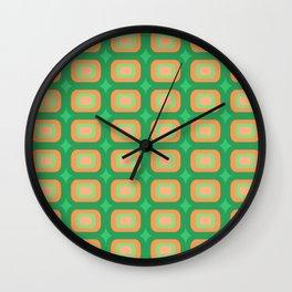 Retro geometric pattern looking awesome Wall Clock