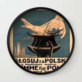 Vintage poster - Poland Wall Clock