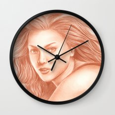 Woman Portrait 3 Wall Clock