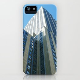 Empire State in Green iPhone Case