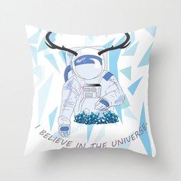 Crystal Astronaut Throw Pillow