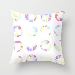 Pastell Dots Throw Pillow