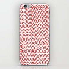 Red Wavy Chevrons iPhone & iPod Skin