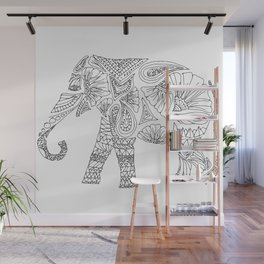 Unique Elephant Art Wall Mural