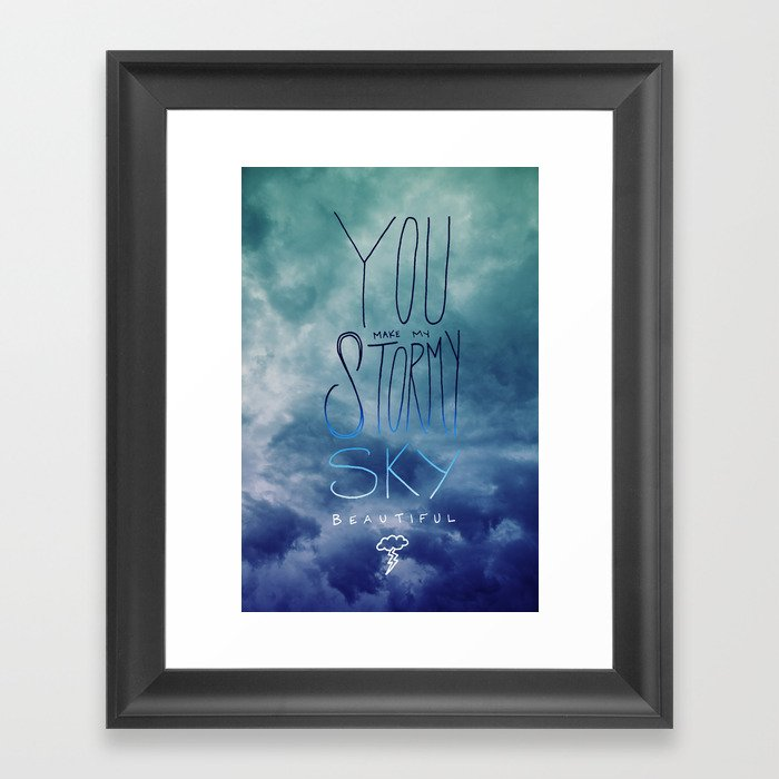 Stormy Sky Framed Art Print