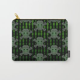 Hacker Skull Crossbones (pattern version) Carry-All Pouch