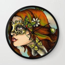 Earth Goddess of Nature Wall Clock