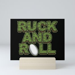 Ruck And Roll - Rugby Attitude Mini Art Print