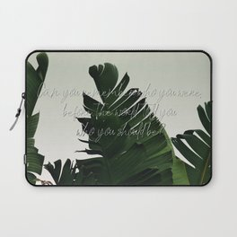 Can you remember who you were, before the world told you who you should be? Laptop Sleeve