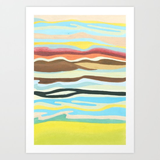 colorful perspective Art Print