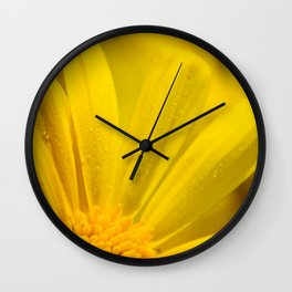 Yellow Blooms Wall Clock