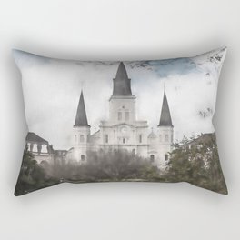 St. Louis Cathedral-New Orleans, Louisiana Rectangular Pillow