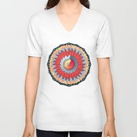 buddhism V-neck T-shirts featuring Auspicious by DebS Digs Photo Art