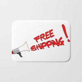 Free Shipping Megaphone Bath Mat