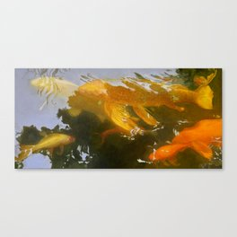 Koi Garden_painting Canvas Print