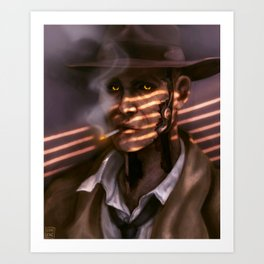detective valentine Art Print