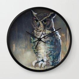Undead Owl Wall Clock