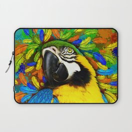 Gold and Blue Macaw Parrot Fantasy Laptop Sleeve