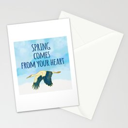 Spring Comes from Your Heart - Positive Quote Stationery Cards