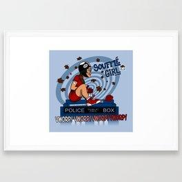 Souffle Girl Framed Art Print