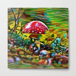 Toadstool Fiesta | painting Metal Print