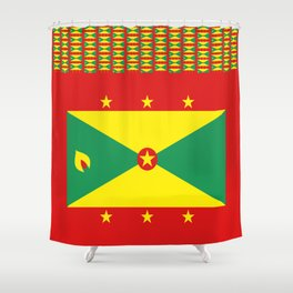 Grenada Flag Duvet Shower Curtain