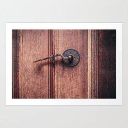 Door handle Art Print