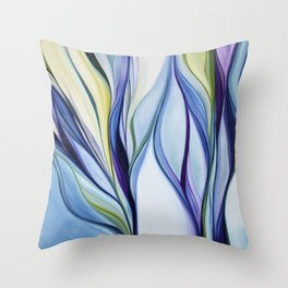 organic abstract Throw Pillow