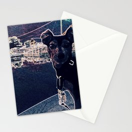 Min Pin on a boat Stationery Cards