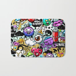 graffiti fun Bath Mat