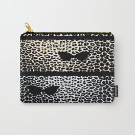 ANIMAL PRINT CHEETAH DIVA BLACK AND WHITE Carry-All Pouch
