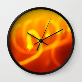 Light trails abstract Wall Clock