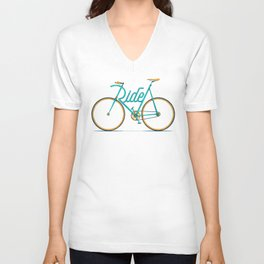 Ride Typo-Bike Unisex V-Neck