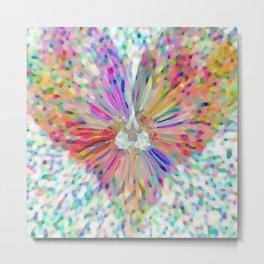 Painted Confetti Heart Metal Print