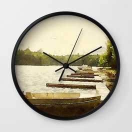 Lily Bay Docks, Maine Wall Clock