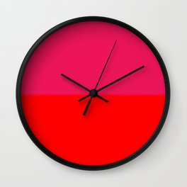 Abstract in red and pink Wall Clock
