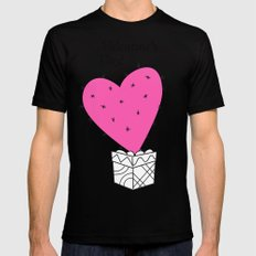pink valentine cactus-heart MEDIUM Mens Fitted Tee Black
