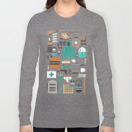 Zombie Survival Kit Long Sleeve T-shirt