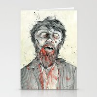 zombie Stationery Cards featuring Zombie! by Chris Gauvain